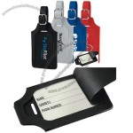 Everyday luggage tag with hide-away security flap