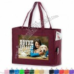 Everyday Non-Woven Tote Bag with Side Pockets w/ Full Color Imprint