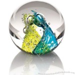 """Evolution by Waterford Crystal Cosmic Waters Paperweight 3"""""""