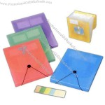 Expanding file includes A - Z inserts, 2 business card holders and CD holders.