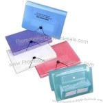 Expanding file with 2 business card holders, 2 CD holders and 1 storage pocket.