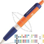 Extra large barrel pen with latex free soft grip.