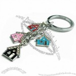 Fancy House Shape Keychain