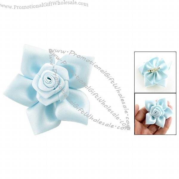Fashion Accessories Sky Blue Polyester Rose Flower Corsage