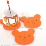 Fashion Bear Shaped Felt Coaster