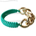 Fashion Bracelet With Leather And Chain