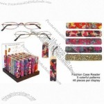 Fashion Case Reading Glasses with Display Stand for 48pcs