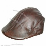 Fashion Leather Beret Hat