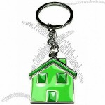 Fashion Metal Keychain With House Charm