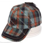 Fashion plaid adjustable baseball cap