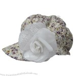 Fashion Printed Cap with Big Flower