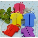 Fashion Silicone T-Shirt Coin Pouch, Key Wallet