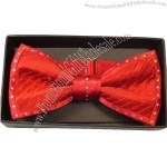 Fashion Silk Bow Tie With Crystals
