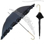 Fashion stick umbrella with silhouette print
