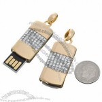 Fashionable 2GB Whistle Jewelry USB Flash Drive Gold