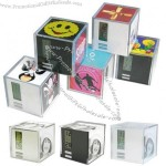 Fashionable Cube Photo Frame Table Clock