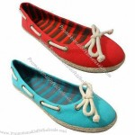 Fashionable Jute Canvas Shoe with Canvas Upper and Jute TPR Outsole