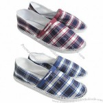 Fashionable Men's Canvas Shoes with Rubber/PE Outsole, Fabric Upper