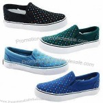 Fashionable Women's Canvas Shoes with Rubber Outsole