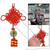 Faux Jade Detailing Red Tassel Chinese Knot Vehicles Ornament