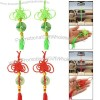 Faux Jade Pendant Hanger Fringed Chinese Knot Ornament