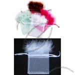 Feather Organza Bags