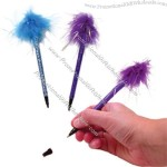 """Feather topped 6"""" pen"""