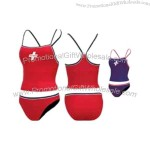 Female tankini guard suit with fully lined front and back.