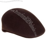 Ferrecci Men's Dark Brown Wool Driver's Cap