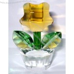 Fifth Avenue Crystal Reflections Amber Flower Planter