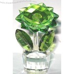 Fifth Avenue Crystal Reflections Green Flower Planter