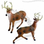 Figure Sika Deer, Plastic Craft with Solid Inside