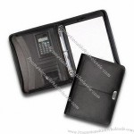 File Holder, Made of Bonded Leather with Calculator