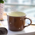 Fine Ceramic Mug with Polka Dot Pattern