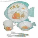 Fish Design 5-Piece Children's Dinner Set