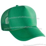 Five panel, pro style cap with mesh back and front panel with lining