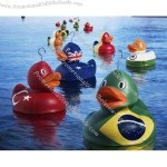 Flag Duck Toy With Different Country Flag Printing