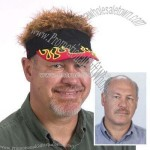 Flair Hair with Brown Hair and Flame Visor