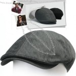 Flat Cap Cotton Cabbie Hat New Mens Black Gray Gatsby Ivy Irish Newsboy