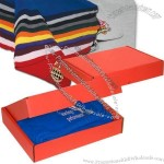 Fleece throw blanket in a sturdy red gift box