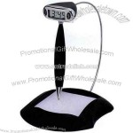 Floating pen with LCD clock and memo pad