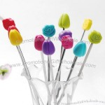 Floral Drink Stirrers - Rose Tulip