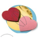 Florentine Napa Leather Heart Shape Coaster