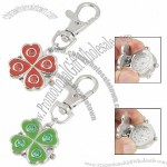 Flower Hunter Case Watch Lobster Clasp Key Ring Chain