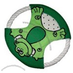 "Flying Disc Dog Toy W/ Frog Cover 7"" Diameter"