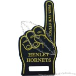 "Foam hand, 12""with a grab handle"
