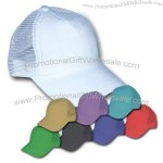 Foam mesh trucker custom cap, two tone, with 5 panels and adjustable strap.