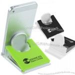 Fold Flat Phone Stand with Microfiber Cloth