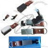 Foldable Leather USB Flash Drive with LED Light and Keyring