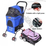 Foldable Pet Stroller - Collapsible Dog Trolley